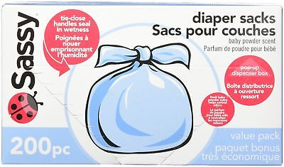 Sassy Baby Disposable Diaper Sacks 200 Count New