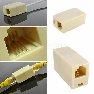 RJ11 ADSL Cable Lead Female Inline Adaptor Coupler Phone Modem Connector