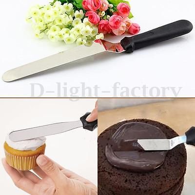 Cake Icing Butter Spreader Knife Scraper Jam Smoother Fondant Baking Decorating