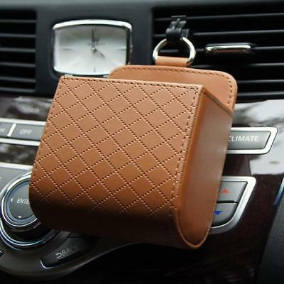 Car Air Vent Mobile Phone Leather Holder Pocket Storage Pouch Box Organizer - 6A