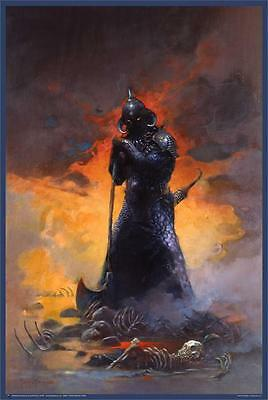 DEATH DEALER THREE - FRAZETTA ART POSTER - 24x36 FANTASY 804
