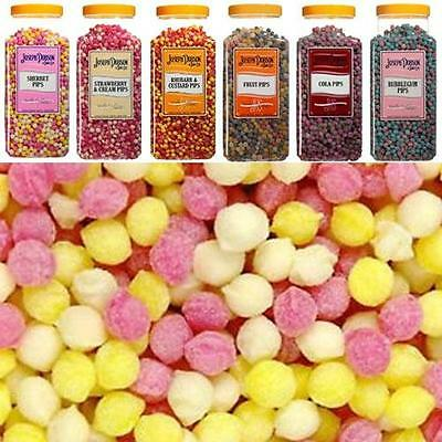 Joseph Dobson Hard Boiled Sweets Pips - 6 Flavours and 9 Different Bag Sizes