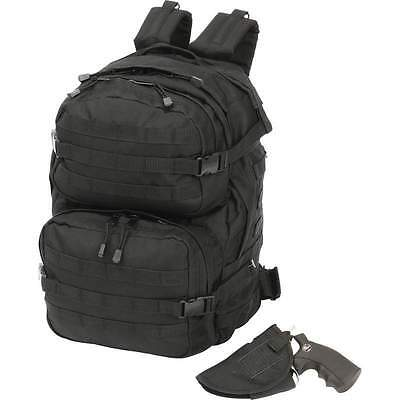 Extreme Pak 4 PC Black Backpack with Concealed Carry Handgun Holster