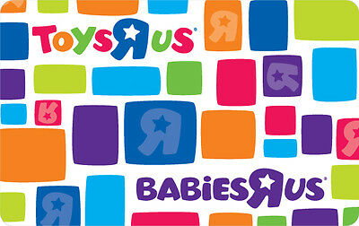 $10 / $20 / $25 / $50 / $100 Babies R Us Gift Card - Mail Delivery
