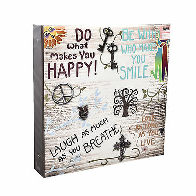 Large inspirational Slogans Ring binder Photo Album for 500 Photos 4x6'-DH500