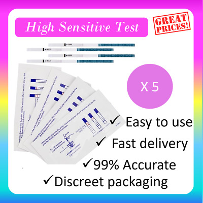 5X ULTRA EARLY 10mIU HOME PREGNANCY HCG URINE STRIP TESTS