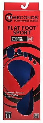 10 Seconds Performance Insoles Flat Foot Sport NEW