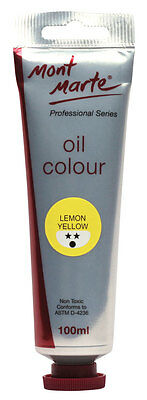 Mont Marte Oil Paint 100mls - Lemon Yellow