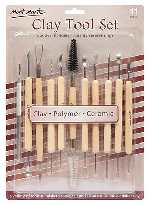 Mont Marte Pottery & Polymer Clay Tool Set 11pc
