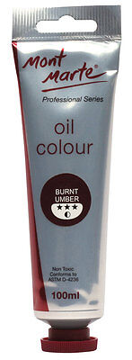 Mont Marte Oil Paint 100ml - Burnt Umber