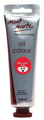 Mont Marte Oil Paint 100ml - Brilliant Red