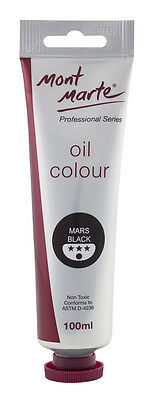 Mont Marte Oil Paint 100ml - Mars Black