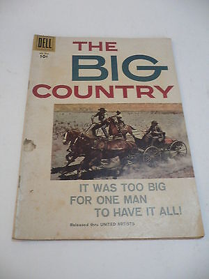 THE BIG COUNTRY Comic #946 (The Movie), Dell Publishing, Oct 1958 VF+ 10¢ Cover