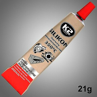 New Red High Temperature Silicone Adhesive Sealant Tube Heat Resistant 21G 350'c