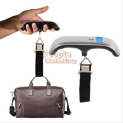 50kg Portable Hanging Electronic Digital Travel Suitcase Luggage Weighing Scales