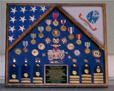 Army 2 Flag Shadow Box/Display Case By Veterans