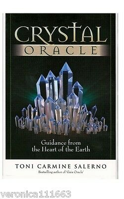 Crystal Oracle NEW sealed 44 color cards 84 page guide book Healing gemstones