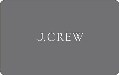 $50 J.Crew Physical Gift Card - Standard 1st Class Mail Delivery