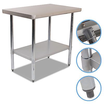 """24"""" x 36"""" STAINLESS STEEL COMMERCIAL CATERING KITCHEN FOOD PREP TABLE BENCH"""