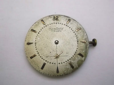 Quadrante E Movimento Per Orologio Michanny 17 Rubis   (S-O-2)