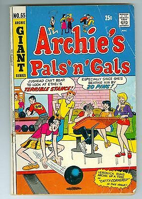 Archie's Pals 'n' Gals Giant Series 65 Archie Comics Publication August 1971 GVG