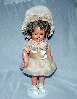 """Original 1930's Shirley Temple Baby Doll, Composition 18"""", Good Condition"""