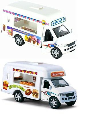 """Kinsmart Softy Ice Cream Truck diecast model with pull back action 5/"""" fun toy"""