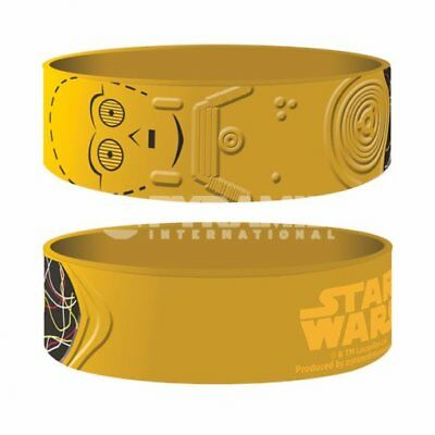 "Collectable Wristband - 1"" Silicone Bracelet - Star Wars - C-3PO"
