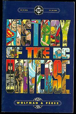 History of The DC Universe Book #2 VFNM DC Comics Oct 1986 Wolfman & Perez