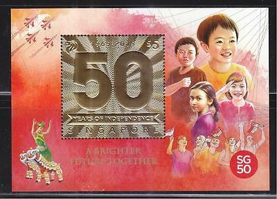 Singapore 2015 50 Years Of Independence 1965-2015 Miniature Sheet Of 1 Stamp Mnh