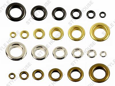 2-3-4-5-6-8mm 100pcs NON RUST METAL EYELETS SEWING LEATHER CRAFT SCRAPBOOKING