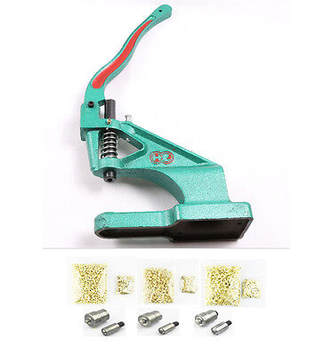 Eyelet Setter Eyelets Tool Hand Press Grommet Machine Eyelet Set with Dies