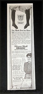 1912 Old Magazine Print Ad, Wayne Knit Hosiery, For The Whole Family, Shaped!