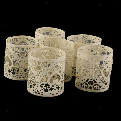 6pc Heart Tea Light Candle Holders Flameless Votive Candles Wrap for Wedding