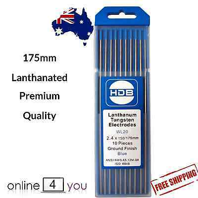 TIG Tungsten Electrodes 2% Lanthanated 2.4mm Welding  PREMIUM QUALITY 10 pack