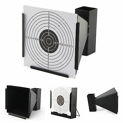 14cm TARGET HOLDER + 100 TARGETS Funnel Pellet Trap Catcher Airgun Air Gun Rifle