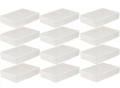 12 X A4 Clear Plastic New Paper Storage Envelope Craft Leaflet Box Holder Boxes