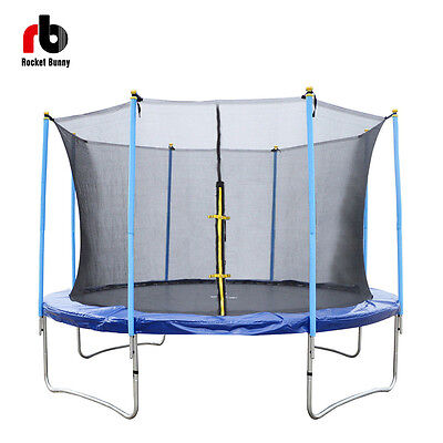 12ft 14ft Trampoline Enclosure Family Exercise with Safety Net Adult Children