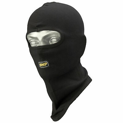 OMP Open Face Kart Racing/Go Karting Balaclava - One Size - In Black