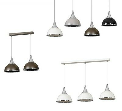 Pendant Ceiling Light Chrome Finish Lampshade Industrial Retro Modern Fitting