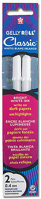 Sakura Gelly Roll Classic White 2 Pack Archival Quality Gel Ink 0.4mm Pen