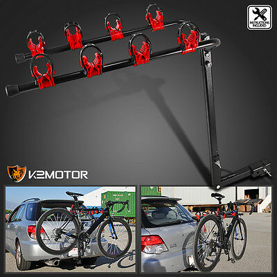 New Auto Car Tuck SUV Rear 4 Bike Bicycle Hitch Mount Carrier Rack