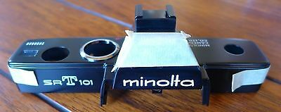 Minolta SRT101 Camera Top Cover (Black SRT-101) - NEW replacement part