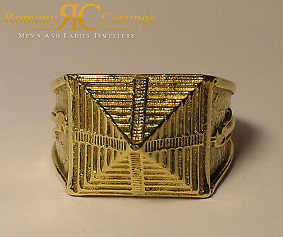 Men's Highly Polished Pyramid  Ring cast in Jewellers Bronze Ring One Size 18g