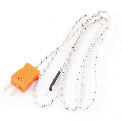 1M 2-Wire K Type Thermocouple Temperature Measuring Probe Sensor