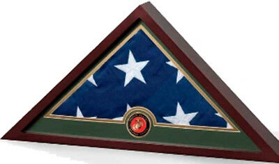 Navy Frame, Navy Flag Display Case, Navy Gifts Hand Made By Veterans