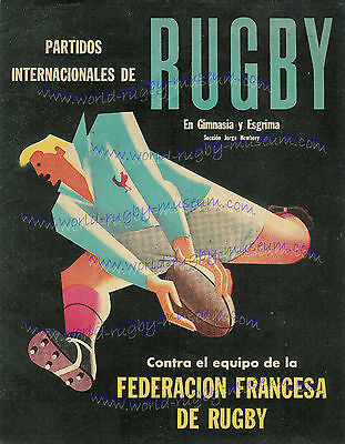 Argentina, France, South Africa 3 Rugby Match Posters 1949-1960 Amazing Artwork