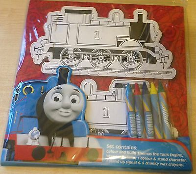 BNIP New 3D Thomas & Friends Colour & Build - Scene Crayons Colour-in Character