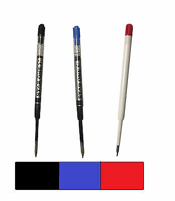 12 PARKER COMPATIBLE LIQUID GEL INK / REFILL -Ballpoint Pens - BLACK BLUE RED