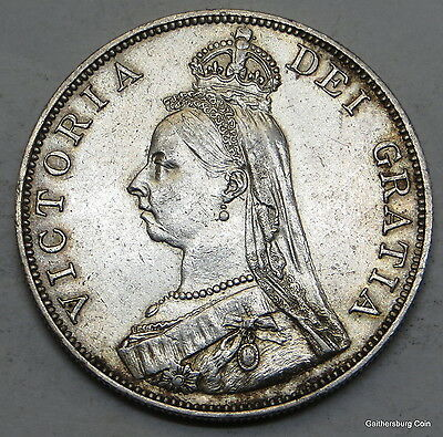 1889 Great Britain Double Florin Coin, ungraded